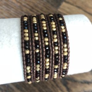 New Auth Chan Luu Dark Red & Gold Mix Five Wrap Me